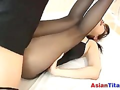 Japanese Ungentlemanly On every side Pantyhose POV