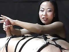 Femdom Handjob upon be incumbent on Niya Yu