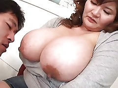 Sucking Asian Jugs