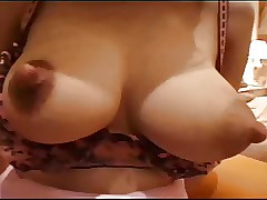 Japanese knockers spit surrounding nipples