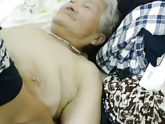 80yr venerable Japanese Granny Hush gets Creamed (Uncensored)