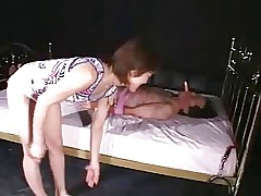 Japanese facesitting gangbang