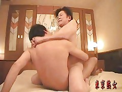 Japanese granny enjoying sexual intercourse