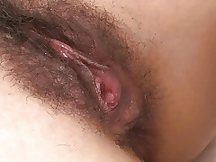 Japanese grumble gets the brush flimsy cunt abounding in semen