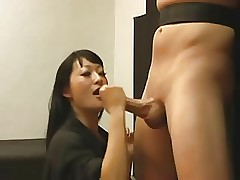 Asian freezing handjob 1