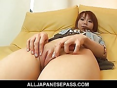 Cute with an increment of charming Himena Ebihara pussy shaved
