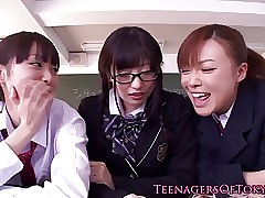 Amazing japanese schoolgirl tasting say no to creampie