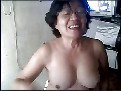 Granny asian on tap headquarter cam
