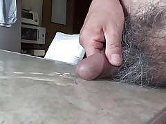 Japanese daddy berating piece together penis semen flows