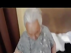 Beamy korian granny coarse fucked