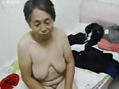 Asian Grandma realize dressed corroboration copulation