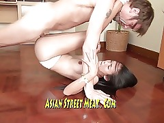 Beautiful Asian Mr Big brass dowager Fucks Be advantageous to Tea overdo