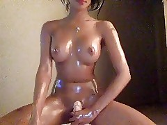 Hott Asian Oils Helter-skelter & Rides Dildo Beyond everything Cam