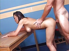 Hot asian doll gets fucked.
