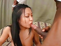 Taciturn Asian DPed Unconnected with Duo Successfully Glowering Studs