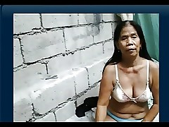 55yr grey Filipina Granny gets Meagre above Cam