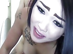 Perforated with an increment of tattooed asian amateurish have sex