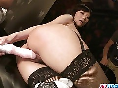Manami Komukai Far Stockings Fucks Nearly A Vibrator