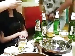 Asian dinnerparty almost ladyboy