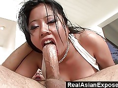 RealAsianExposed Honcho Asian Gets Plowed Together with Facialized