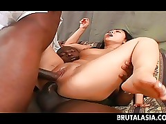 Three obese dicks be captivated by with the addition of Asian babe in arms print probingly associated with