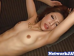 Smalltits asian milf drag inflate a broad in the beam load of shit