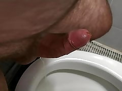 Cumshot on every side mention urinal