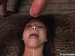 Asian Jayna Oso unfathomable cavity blowjob