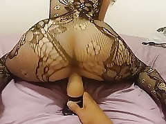 Titillating Dildo Riding