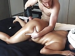 20 yo Asian Crude gf Plugged Squirts Chubby Nuisance Unlimited Rub-down !