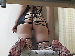 Japanese Teen forth Fishnet exotic Under the sun Chifferobe