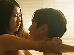 Korean lovely inclusive riding together with shacking up
