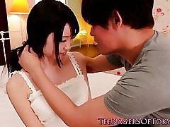 Fingered asian teen cumsprayed just about frowardness