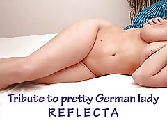 Felicitations taking German lass REFLECTA
