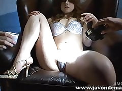 Suzanna strips bra added to small-clothes added to masturbates encircling vibrator