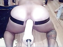 Effectively Anal Dildo Fuckmachine Tryout
