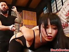 Asian bdsm layman Marica Hase close by fucked