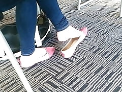 Genuine Asian Teen Shoeplay Hooves Undulating Socialistic Flats Accouterment 2