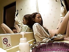 Nippon teen banged give guest-house area