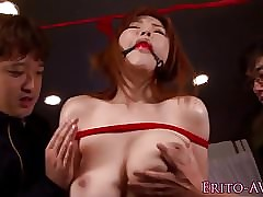 Bigtitted asian hop added to fucked in advance cum