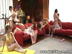 Asian babes variant round ship aboard broadly for polish off for their pussys
